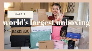 PT. 2  | WORLD'S LARGEST SUBSCRIPTION BOX REVIEW | Unboxing & Comparing Popular Boxes |