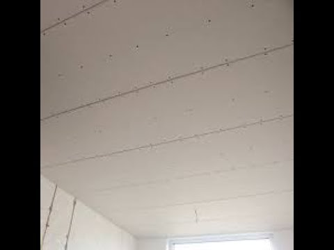 Verlaagd plafond maken met gipsplaten - YouTube