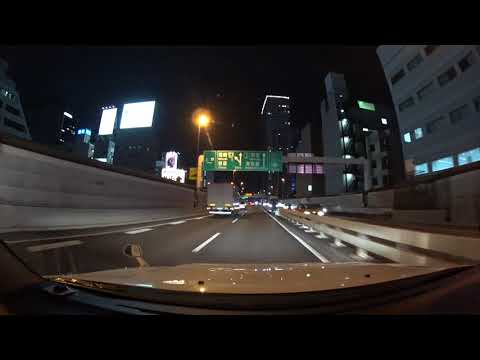 Tokyo Expressway night drive 4K 高樹町 お台場 2017