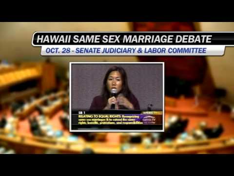 Hawaii Same Sex Marriage Special Session - Senate Judiciary Committee discussion