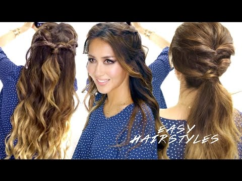 2 super easy school hairstyles braided half up cute ponytail 2 super easy school hairstyles braided half up cute ponytail hairstyle solutioingenieria