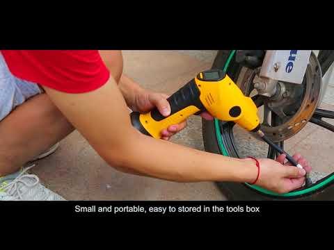 motor-bicycle-bike-tire-inflator-/-corldless-air-compressor