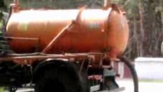 Ассенизаторская машина  ГАЗ 3307 испытания в Валуйках