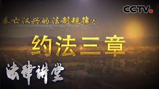 《法律讲堂(文史版)》 20200615 秦亡汉兴的法制规律(六) 约法三章| CCTV社会与法