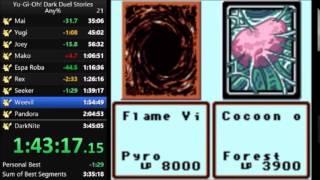 Yu-Gi-Oh! Dark Duel Stories any% speed run in 3:36:45