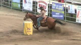 Les Barils - Ste-Brigide 27 mai 2012 western horse run - Barrel