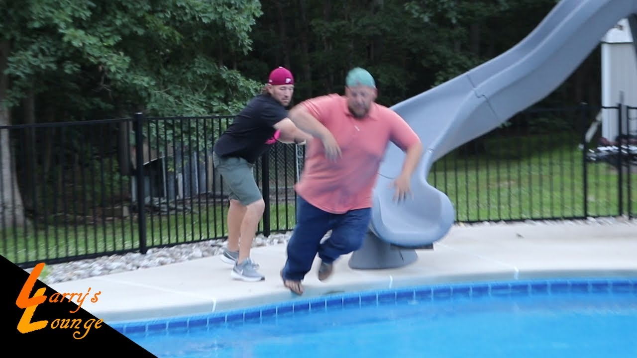 Kevin Pushes Joe in Psycho Dad's Pool