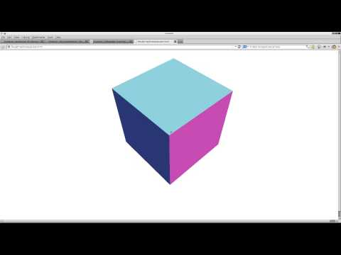 Create a 3D Cube in HTML5 with Threejs Linux Tutorial