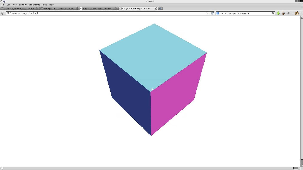 Create a 3d cube in html5 with threejs linux tutorial youtube baditri Image collections