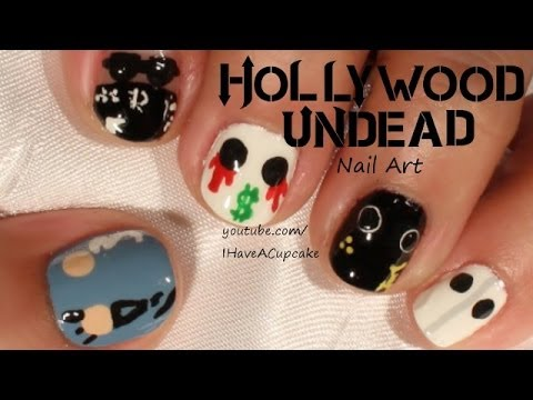 hollywood undead nail art