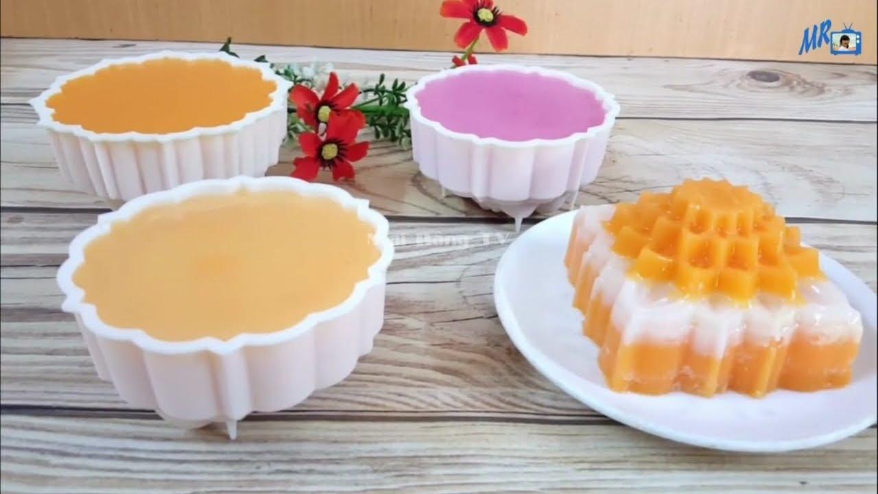 Cách Làm BÁNH TRUNG THU RAU CÂU NHÂN FLAN Màu Tự Nhiên| jelly mooncake 2020