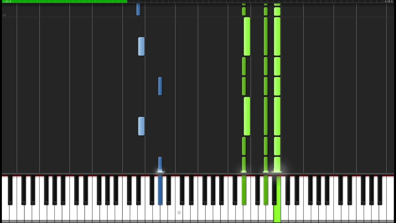 this is halloween the nightmare before christmas piano tutorial synthesia