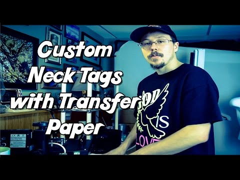 Joy in Clothes – Custom T-Shirt Neck Tag with Transfer Paper
