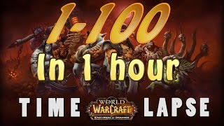 World of Warcraft level 1-100 (1 hour time-lapse)