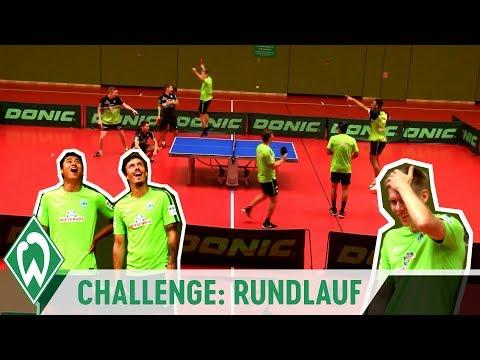 Tischtennis-Challenge: Rundlauf mit Max Kruse & Bastian Steger | SV Werder Bremen