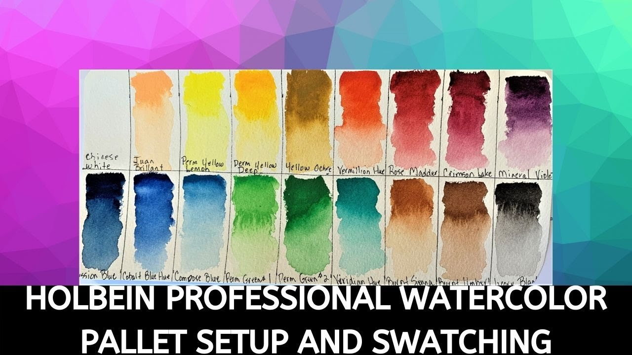 Holbein Watercolor Pallet Setup and Swatching! The Best Watercolors Ever!