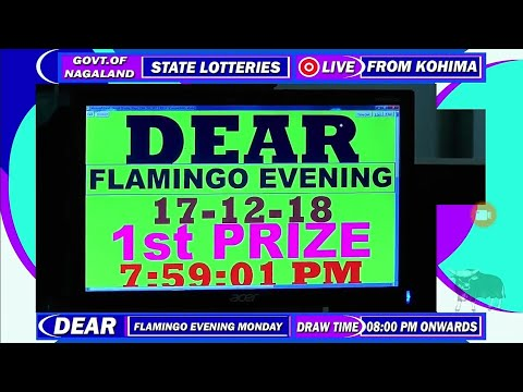 17/12/2018 (08:00 PM) Nagaland State Lottery Live Result | Dear Flamingo  Evening Result