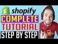 Shopify Tutorial For Beginners [2018] (COMPLETE) - How To Create A Shopify Store Step By Step