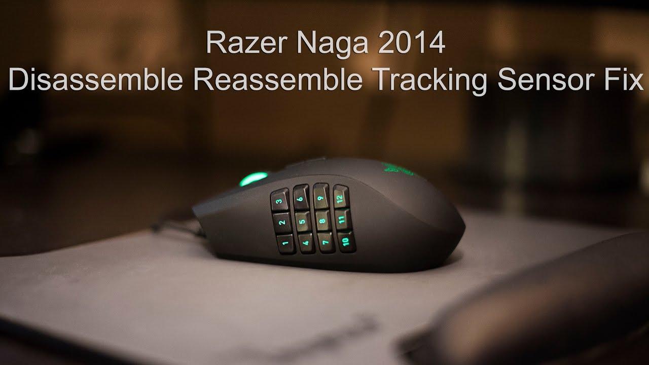 Razer Naga 2014 - Disassemble, Reassemble, Tracking Sensor Fix