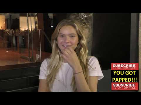 Josie Canseco talks about her dad Jose Canseco and about modeling Katsuya Restaurant in Hollywood
