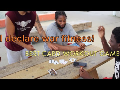 I declare WAR card game fitness edition | Amazing PE at home Fitness games