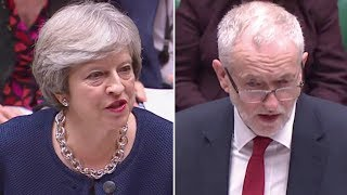 From youtube.com: Theresa May and Jeremy Corbyn {MID-186743}