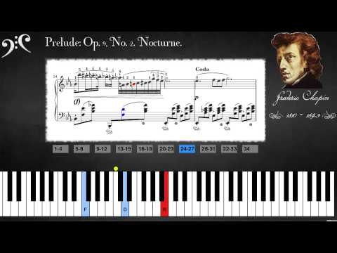 Chopin  Op 9, No 2 Nocturne Learn to play