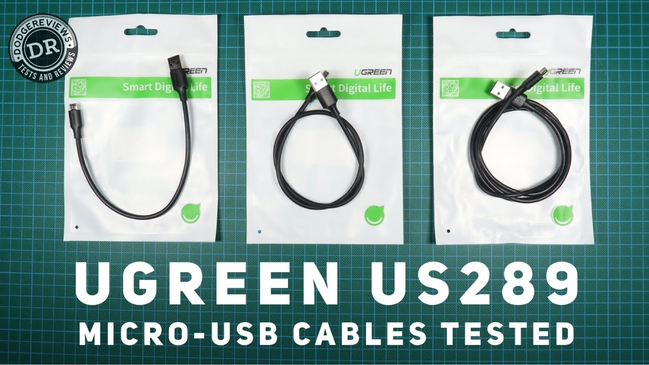 Ugreen US289 micro-usb cables (25/50/100cm) tested (Discord submission)