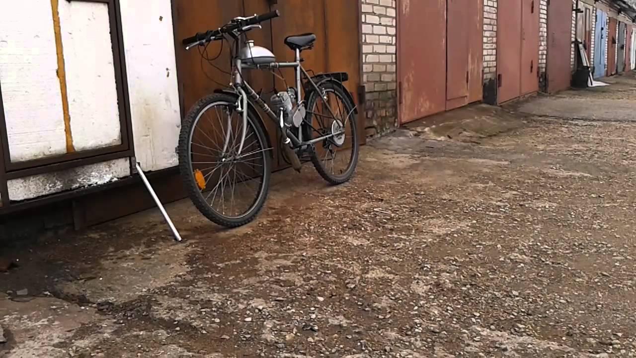 велосипед с мотором f-50 - YouTube