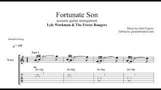 Fortunate Son TAB - instrumental acoustic guitar solo tab - PDF - Guitar Pro