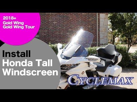Install Honda Tall Windscreen on 2018 Honda Gold Wing/Tour
