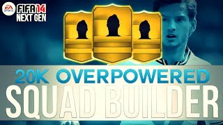 CHEAP 20K OVERPOWERED SQUAD! w/ TRANSFERRED WELLITON | FIFA 14 Ultimate Team Squad Builder