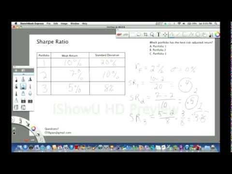 CFA Level 1 Sample Question - Sharpe Ratio - YouTube