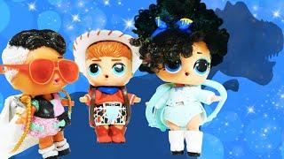 Le monde LOL. Les petites poupées LOL cherchent le dinosaure. Vidéo en français pour enfants.