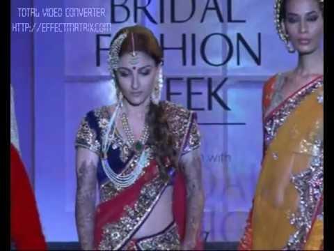 Soha Ali Khan on ramp at Aamby Valley India Bridal Fashion Week 2012 Part 1