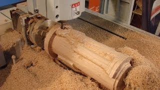 6090 CNC router machining a $$4000**4th axis angel in oak