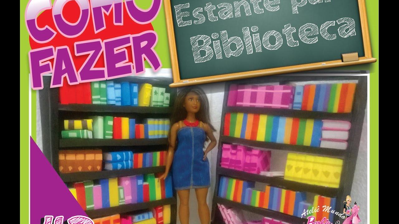 Como fazer estante de livros para a biblioteca da Barbie 2/3   #B0351B 2592x1456