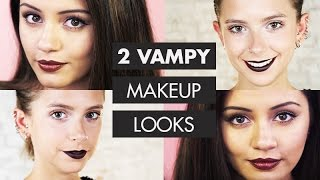 2 VAMPIRE Halloween Makeup Looks | Kaushal Beauty + sunbeamsjess