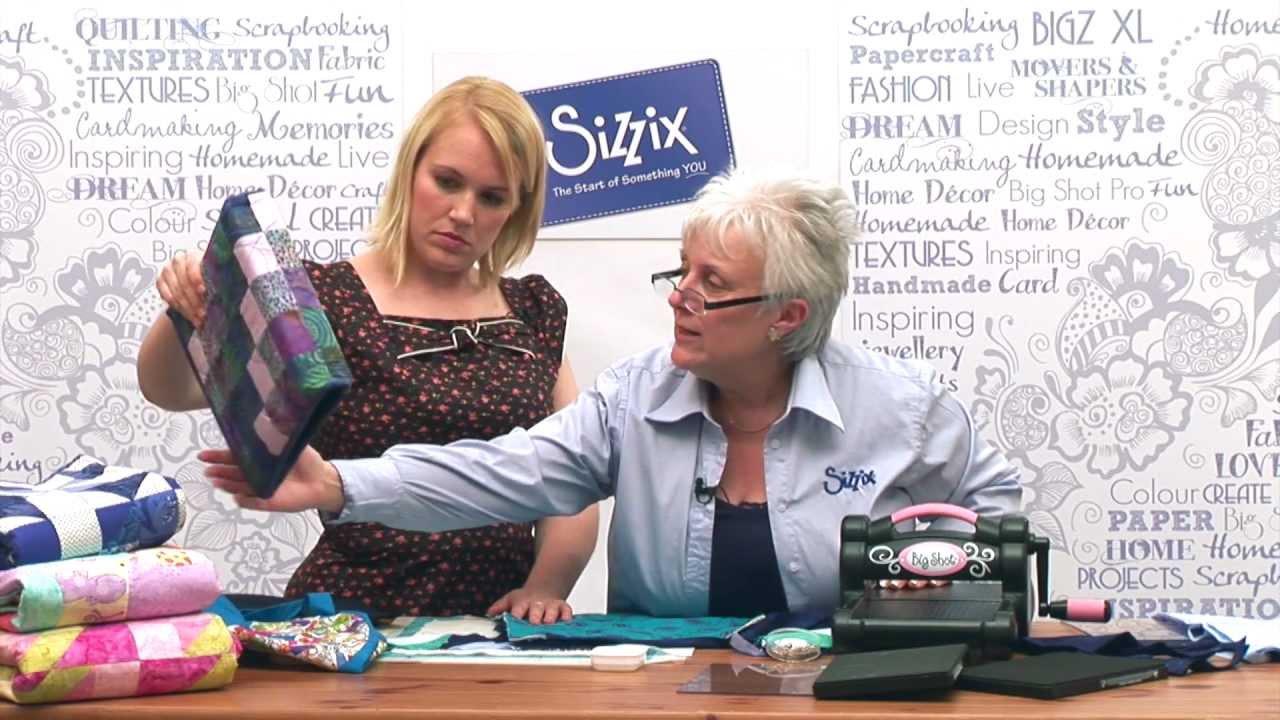 HOW TO MAKE A MINI QUILT USING SIZZIX DIES | DIE CUTTING TUTORIAL ... : quilt dies - Adamdwight.com