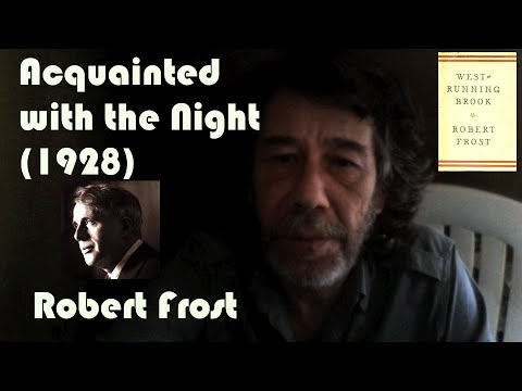 Robert Frost's 'Acquainted with the Night' read by OÁC (25/09/13) - ar.en.fr.it.ja subs