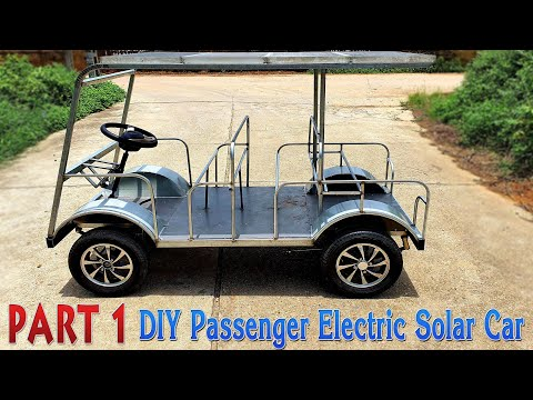 Build a Passenger Electric Solar Car at Home - Tutorial - Part 1