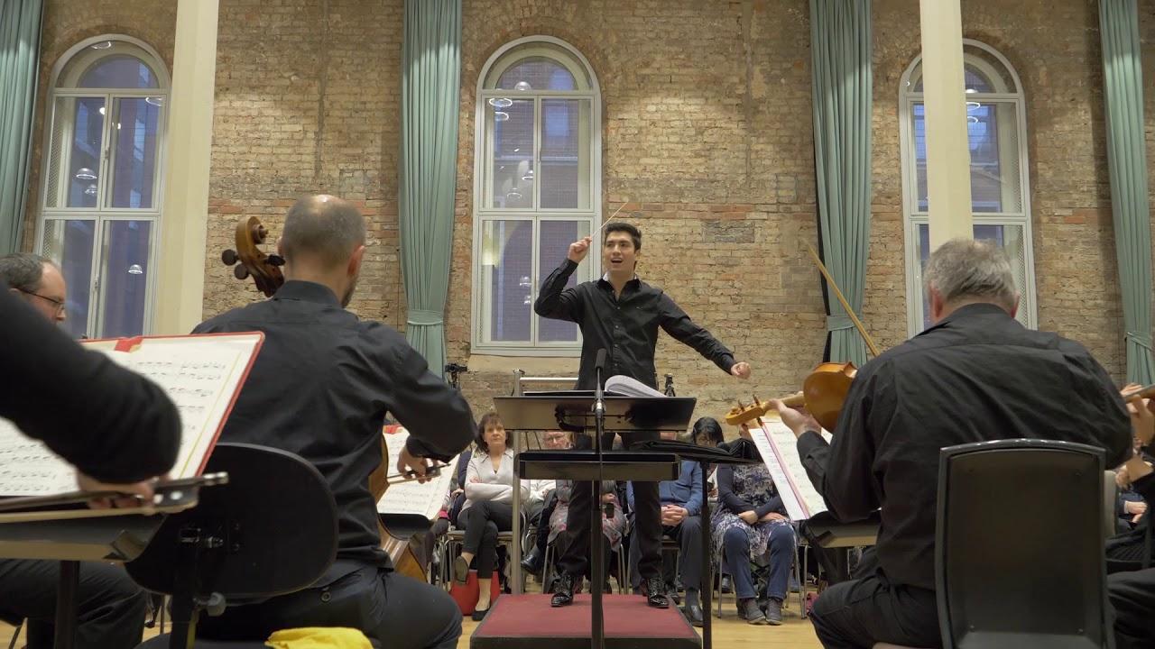 Rodolfo Barráez conducts Huw Watkins Symphony Excerpt, Siemens Hallé Competition