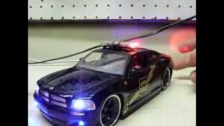 Custom ordered 24th scale LIVONIA MICHIGAN POLICE DEPARTMENT Charger w/ working lights!