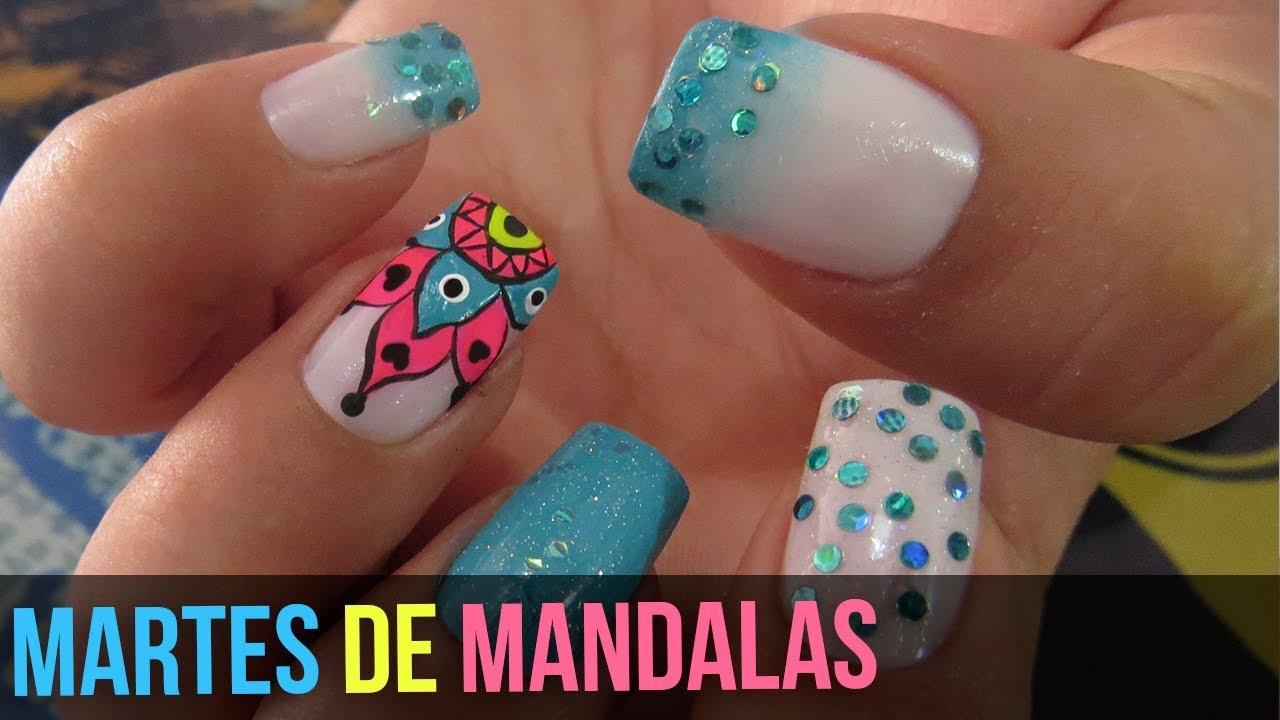 Diseños De Uñas Mandalas Martes De Mandalas 2 Youtube