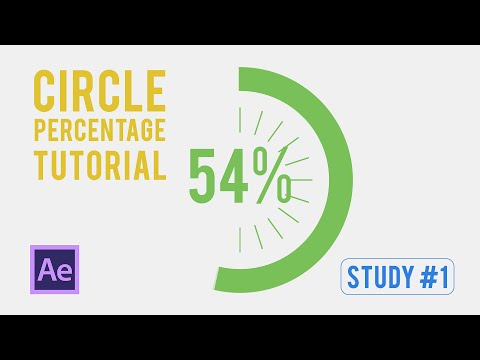 Study #1 Infographics - Animated Circle Percentage