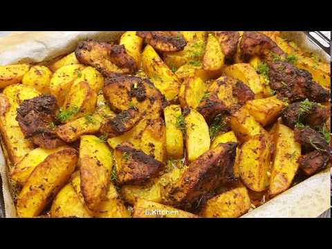 Как приготовить сочное Мясо с Картошкой в Духовке