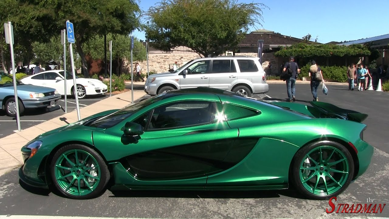 bright green mclaren p1 mso driving! - youtube