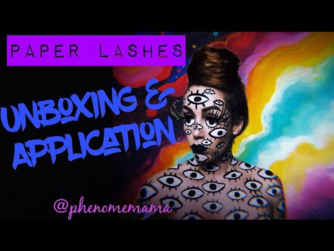 Unboxing and Trying Paper Lashes for the First Time | phenomemama.