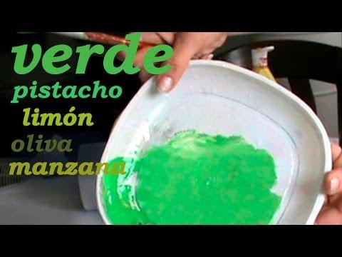 Cómo Hacer Verde Pistacho Oliva Limón Manzana