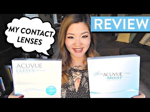 REVIEW: Acuvue Oasys 1-Day Hydraluxe vs. Acuvue 1-Day Moist Contact Lenses | HelloHannahCho